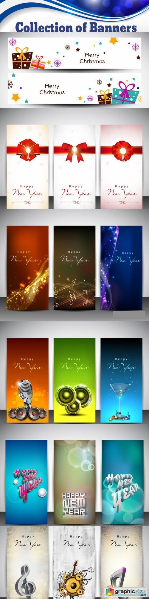 Collection of Banners Vectors and Illustrations