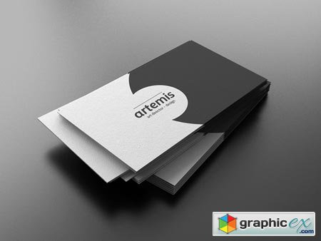 Creativemarket Black White Business Card 7992