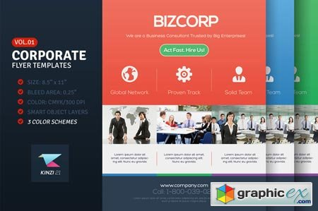 Creativemarket Corporate Flyer Templates Vol.01 9455