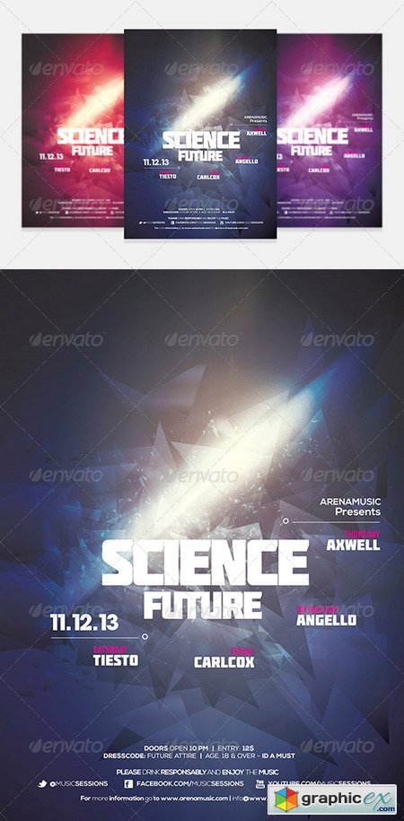Dubstep Flyer Template Vol 7