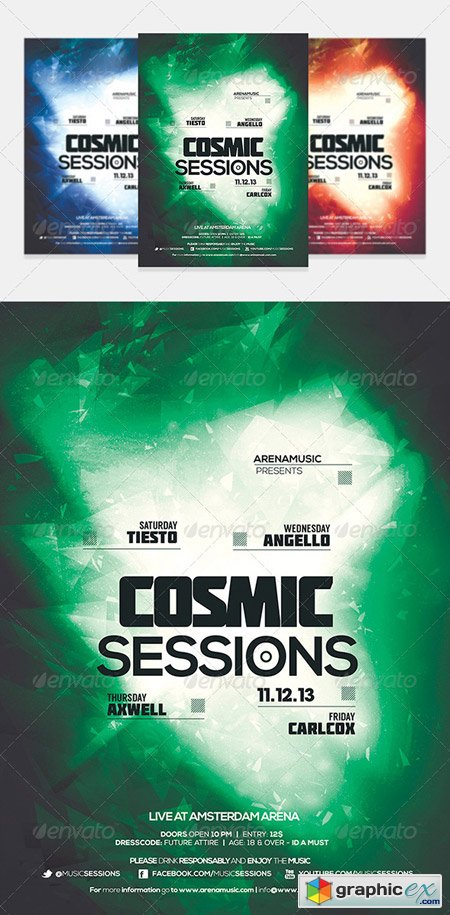 Dubstep Flyer Template Vol 10