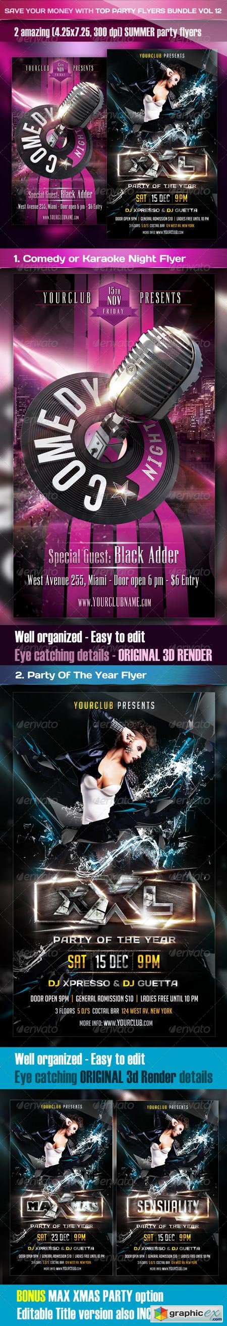 Top Party Flyer Bundle Vol12 3632572