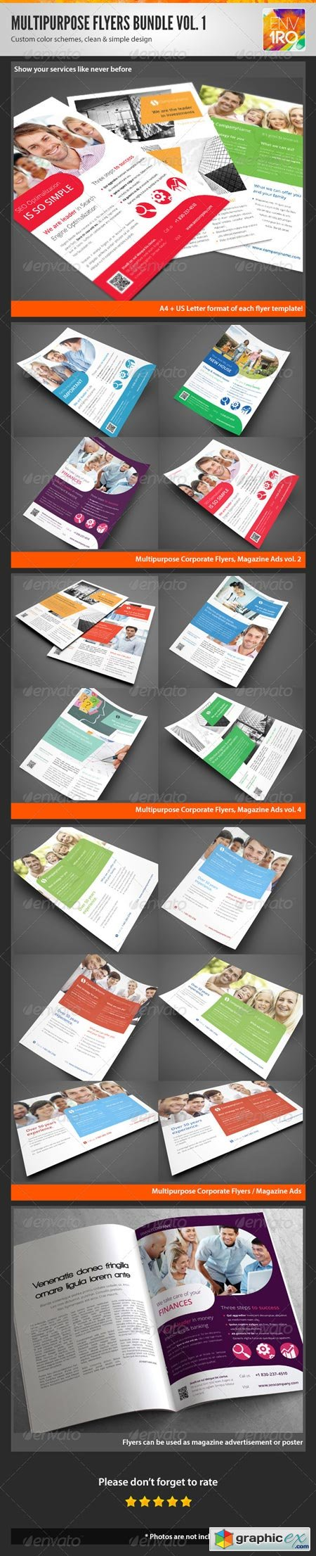 Multipurpose Corporate Flyers Bundle 3in1 vol. 1 3531904