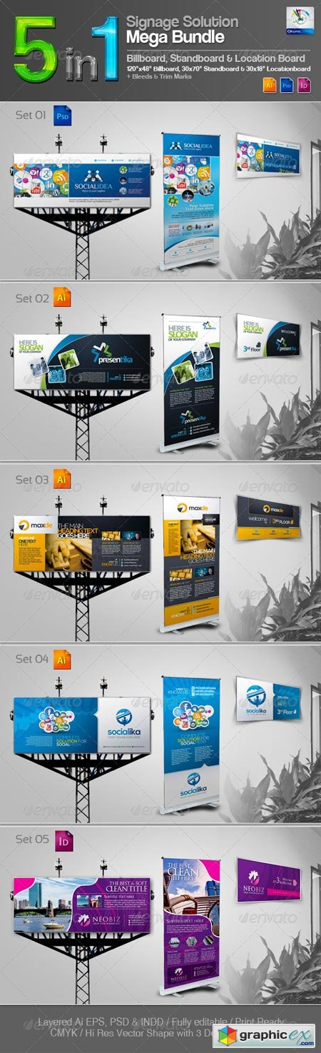 5 in 1 Signage Solution Mega Bundle 3603180