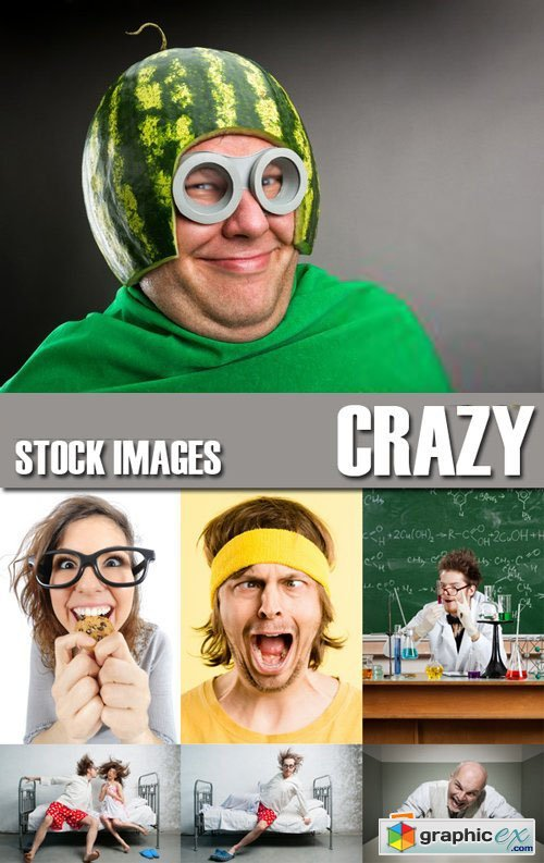 Stock Photos - Crazy People, 25xJPG