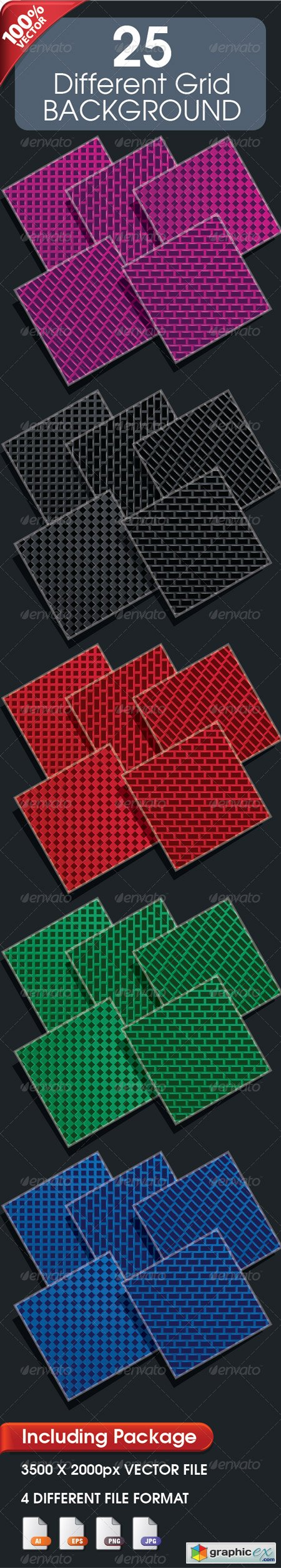 25 Different Grid Background