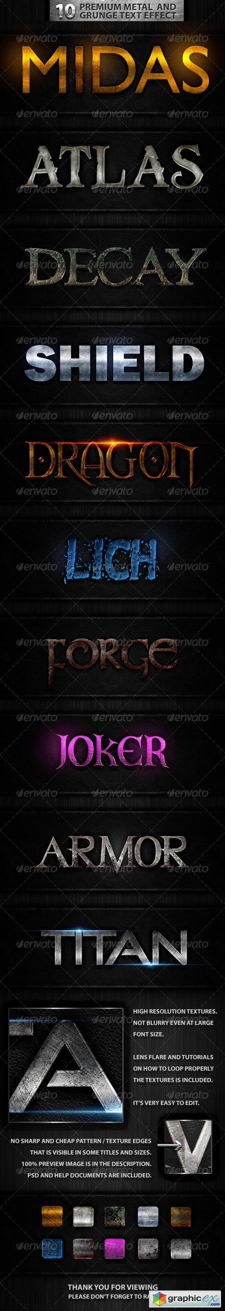 10 Premuim Metal and Grunge Text Effects 7481467