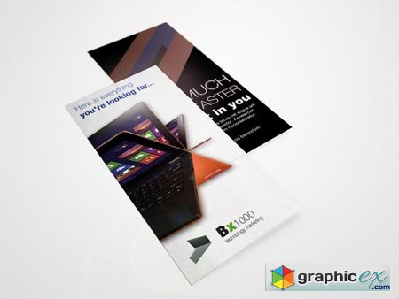 Creativemarket Laptop Tri-Fold Brochure 10253