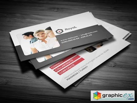 Creativemarket Clean Corporate Red Business Card 2 10141