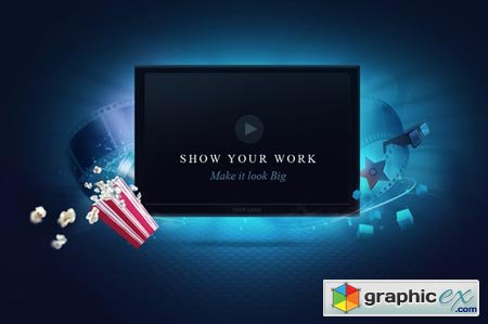 Creativemarket Video Screen Template 18331