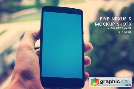 Creativemarket Five Nexus 5 Mockup Shots 17661