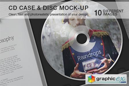 Creativemarket CD Case & Disc Mock-up 17003