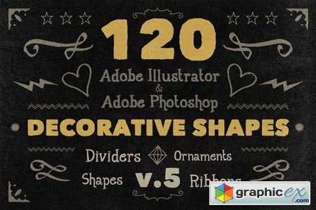 Creativemarket 120 Handwritten Decorative Shapes 05 12360