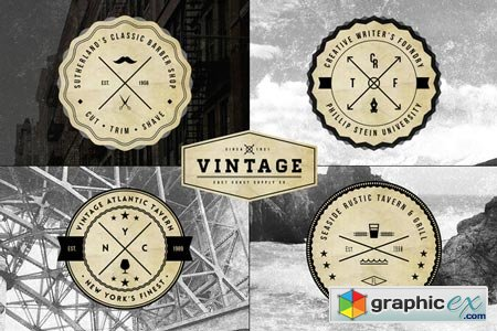 Creativemarket Vintage Logo Badge Templates 17591