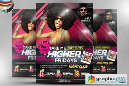 Creativemarket Take Me Higher Flyer Template 17443
