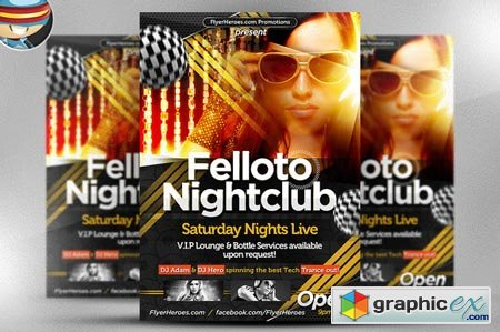Creativemarket Felloto Flyer Template 17469
