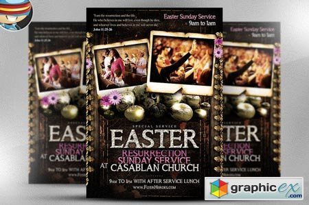 Easter Sunday Flyer Template 23894