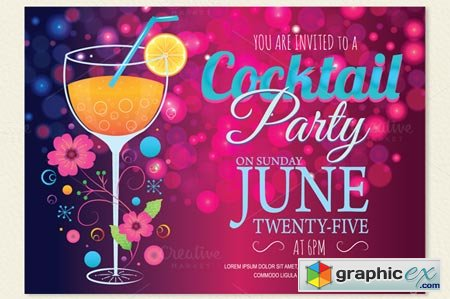Cocktail Party Invitation Card 22765