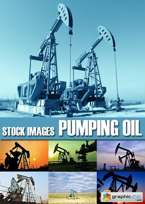 Stock Photos - Pumping Oil, 25xJPG