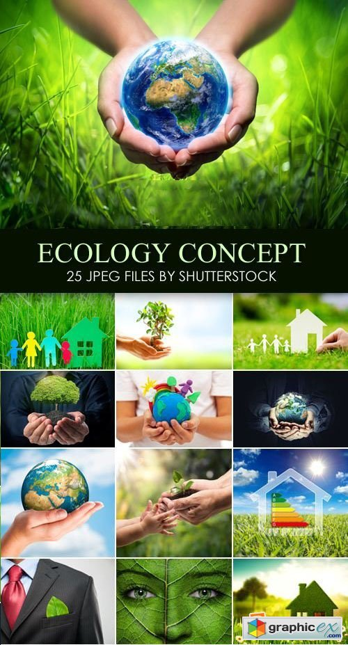 Stock Photo - Ecology Concept, Green Earth 25xJPG