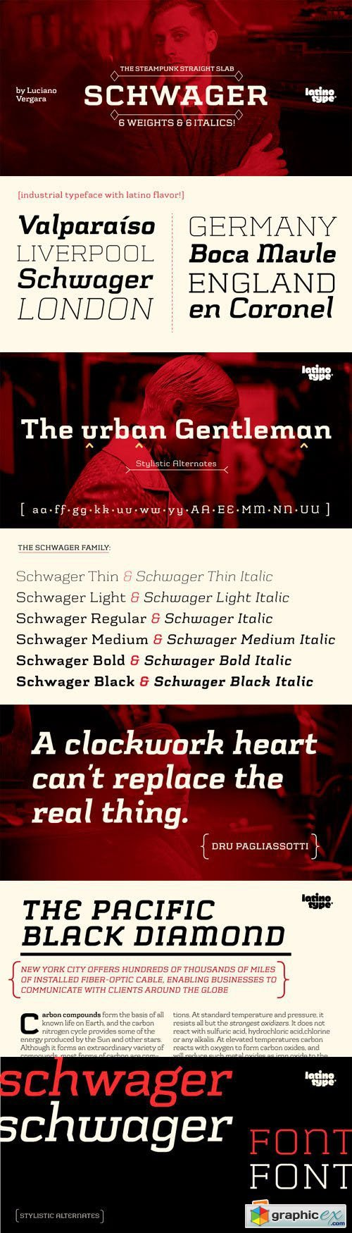 Schwager Font Family - 12 Fonts