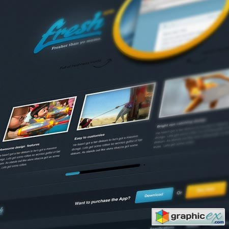 Fresh App Website PSD 449