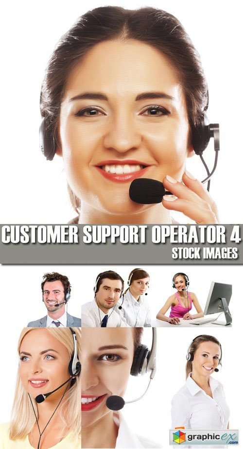Stock Photos - Customer support operator 4, 25xJPG