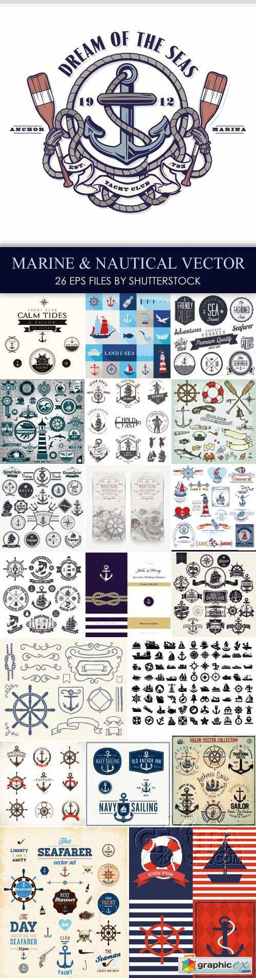 Stock Vector - Marine & Nautical Elements
