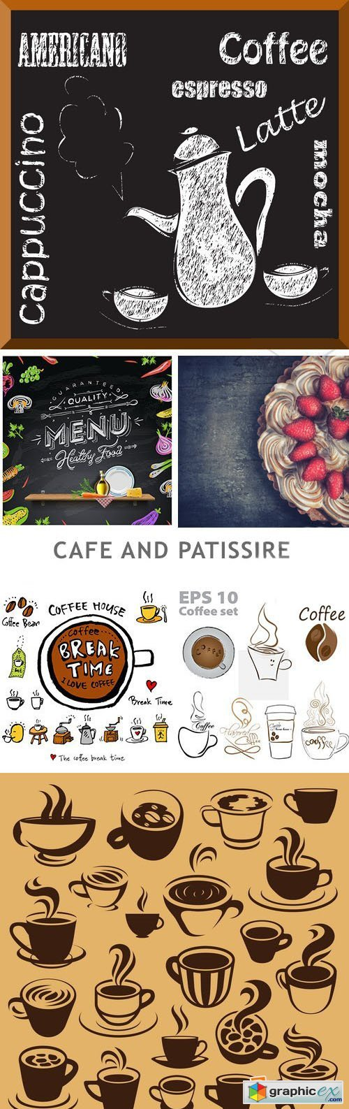 Cafe And Patissire - 22xEPS+3xJPG