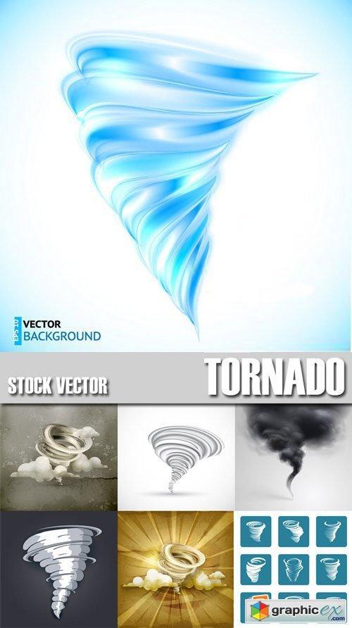 Stock Vectors - Tornado, wind, whirlwind, 25xEPS