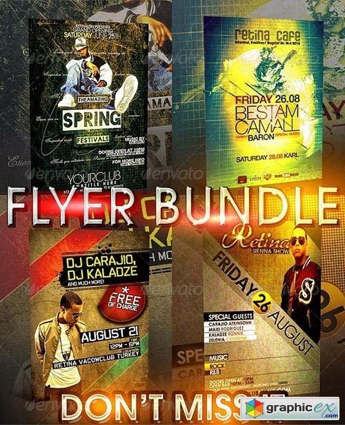 Minimal Flyer Bundle - 4in1 » Free Download Vector Stock