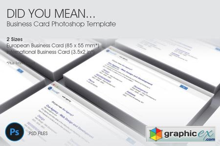 Did You Mean� Business Card Template 41850