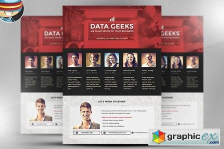 Data Geeks Flyer Template 41857