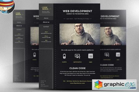 Code Nerds Flyer Template 41854