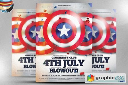 4th July Blowout Flyer Template 41188