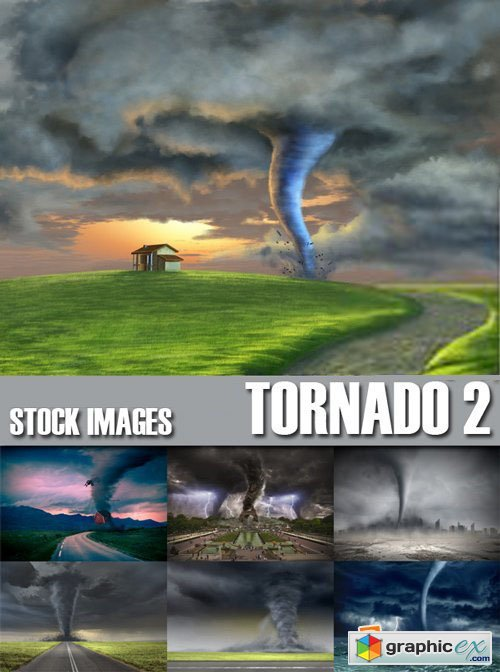 Stock Photos - Tornado, wind, whirlwind 2, 25xJPG