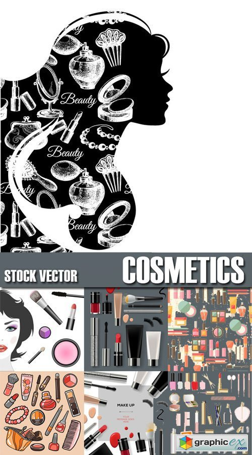 Stock Vectors - Cosmetics Set Beauty Instrument, 25xEPS