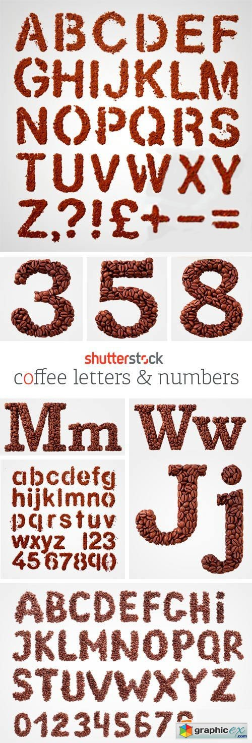 Amazing SS - Coffee Letters & Numbers, 40xJPGs