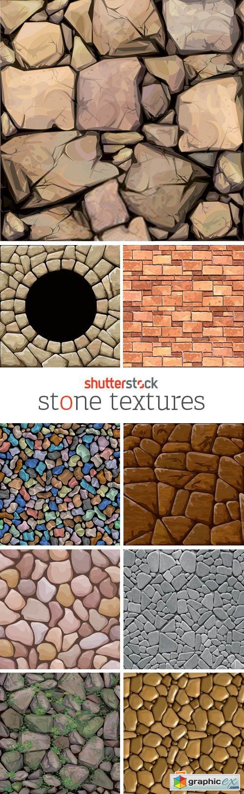 Amazing SS - Stone Textures, 24xEPS
