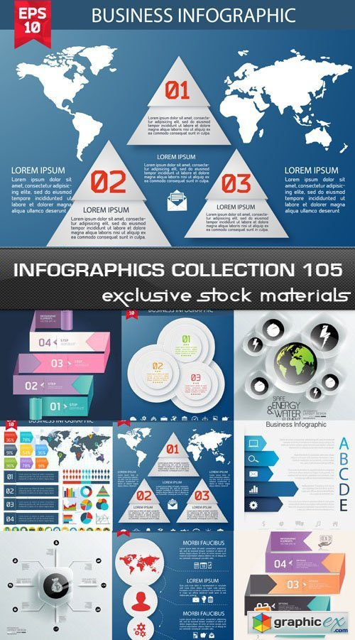 Collection of infographics vol.105, 25xEPS