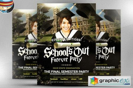 School's Out Forever Flyer Template 41837