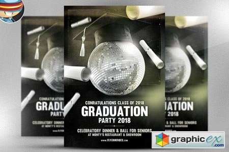 Graduation Flyer Template 41835