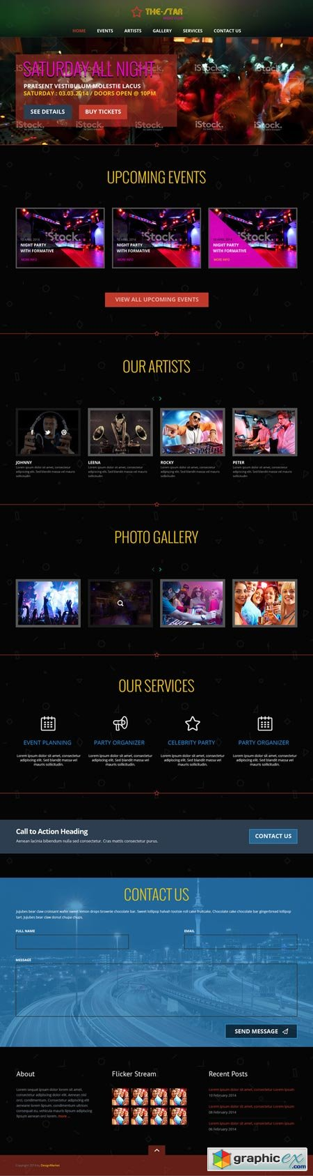 The-Star One Page PSD Template 41488