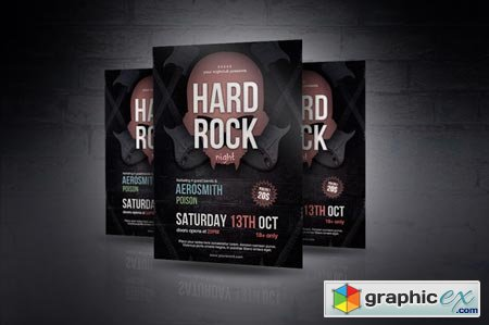 Hard Rock Night Flyer 41455
