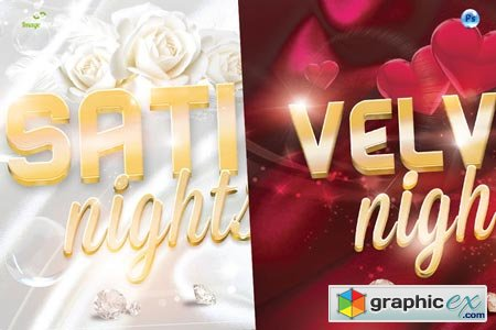 Satin Velvet Nights Party Flyer 39398