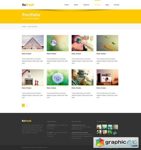 Refresh - Multipurpose PSD template 39039