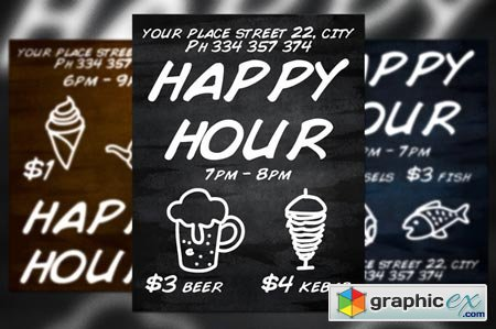 Happy Hours Flyer 39399