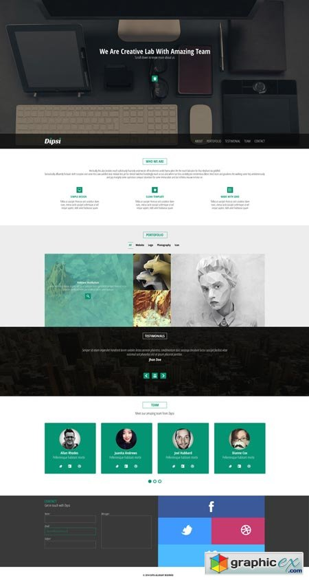 Creative One-Page PSD Template 39152
