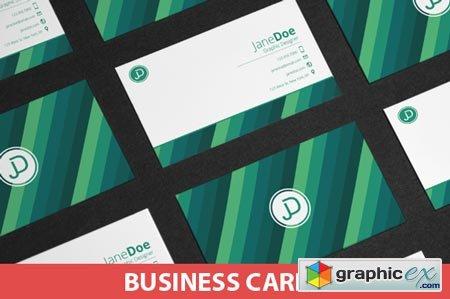 Colorful Stripes Business Cards 39306