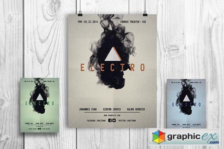 Electro Music - Flyer Template 40634